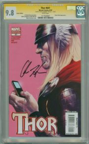 Thor #601 Ipod Variant CGC 9.8 Signature Series Signed Chris Hemsworth Thor Movie Actor Marvel comic